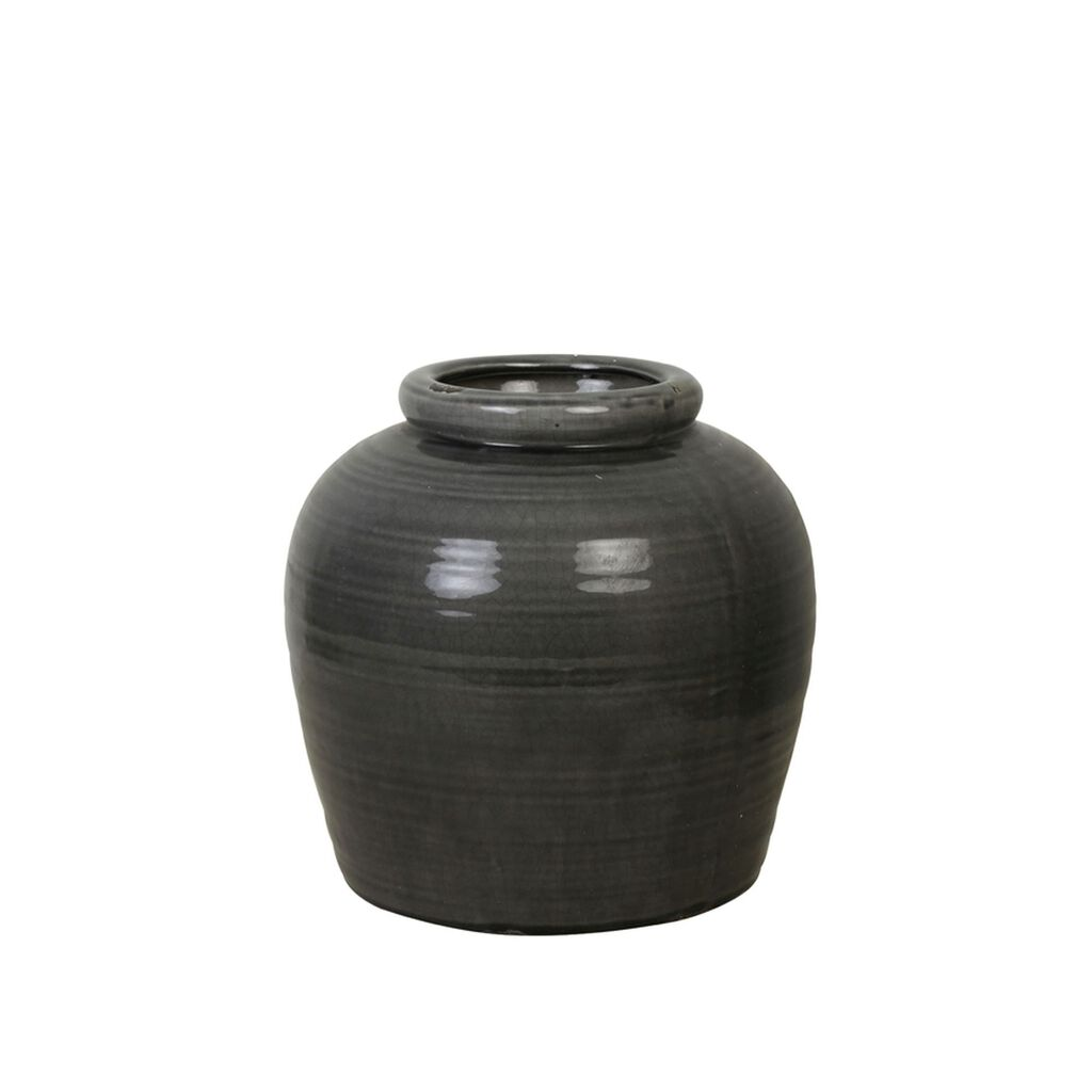 Ceramic Dark Grey Vase, , large