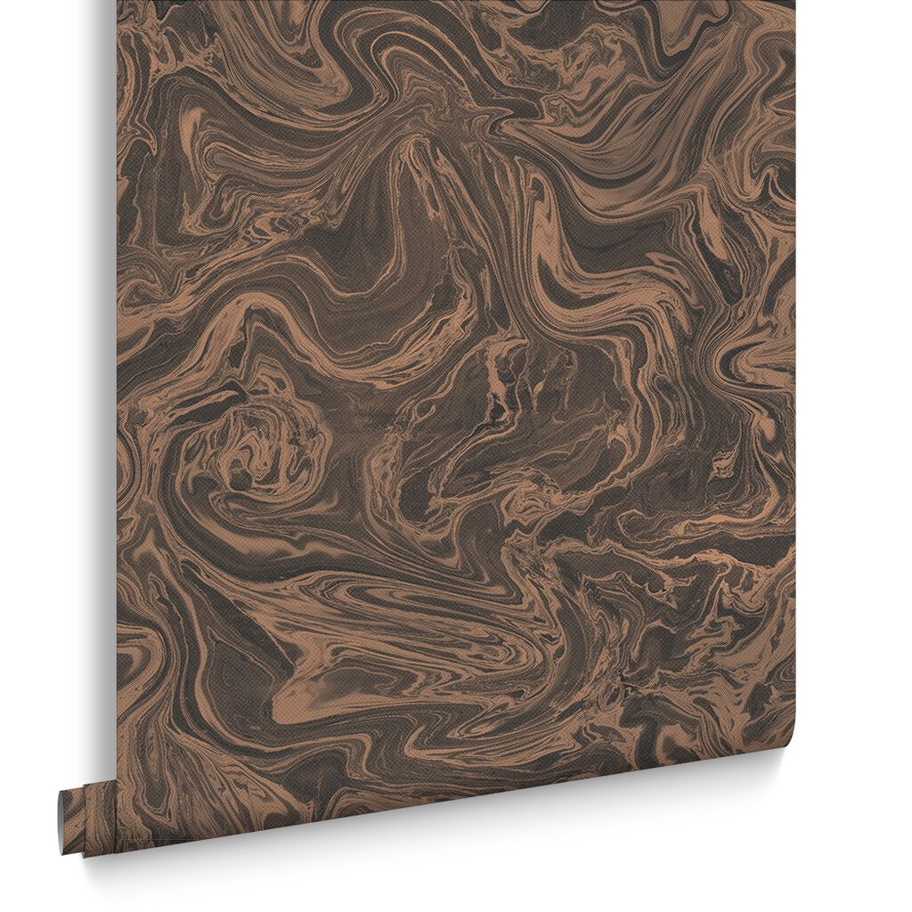 Marbled Charcoal And Rose Gold Wallpaper Graham Amp Brown