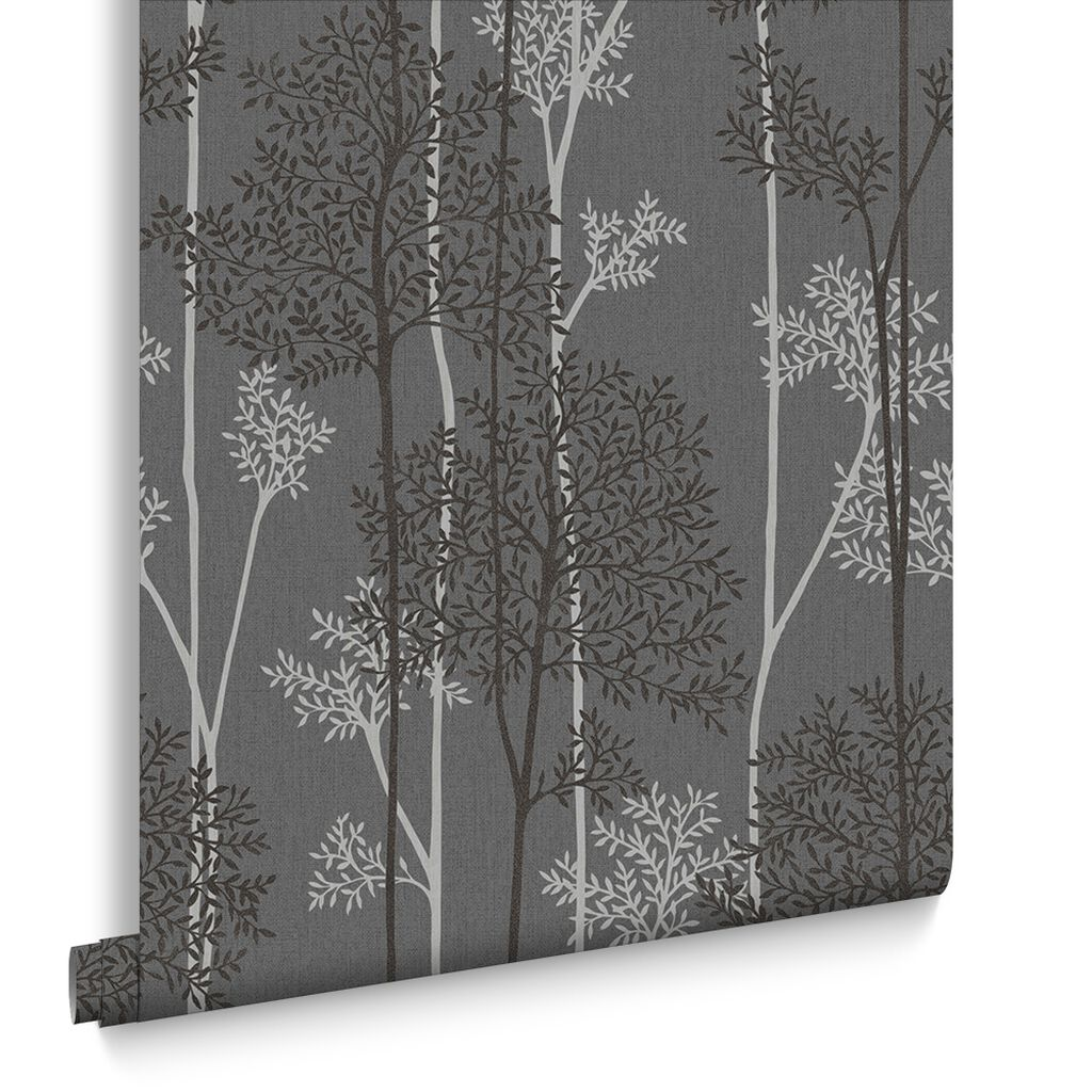 Eternal Charcoal and Silver Wallpaper, , large