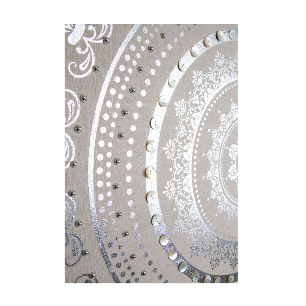 Embellished Cocoon Fabric Canvas Wall Art, , large