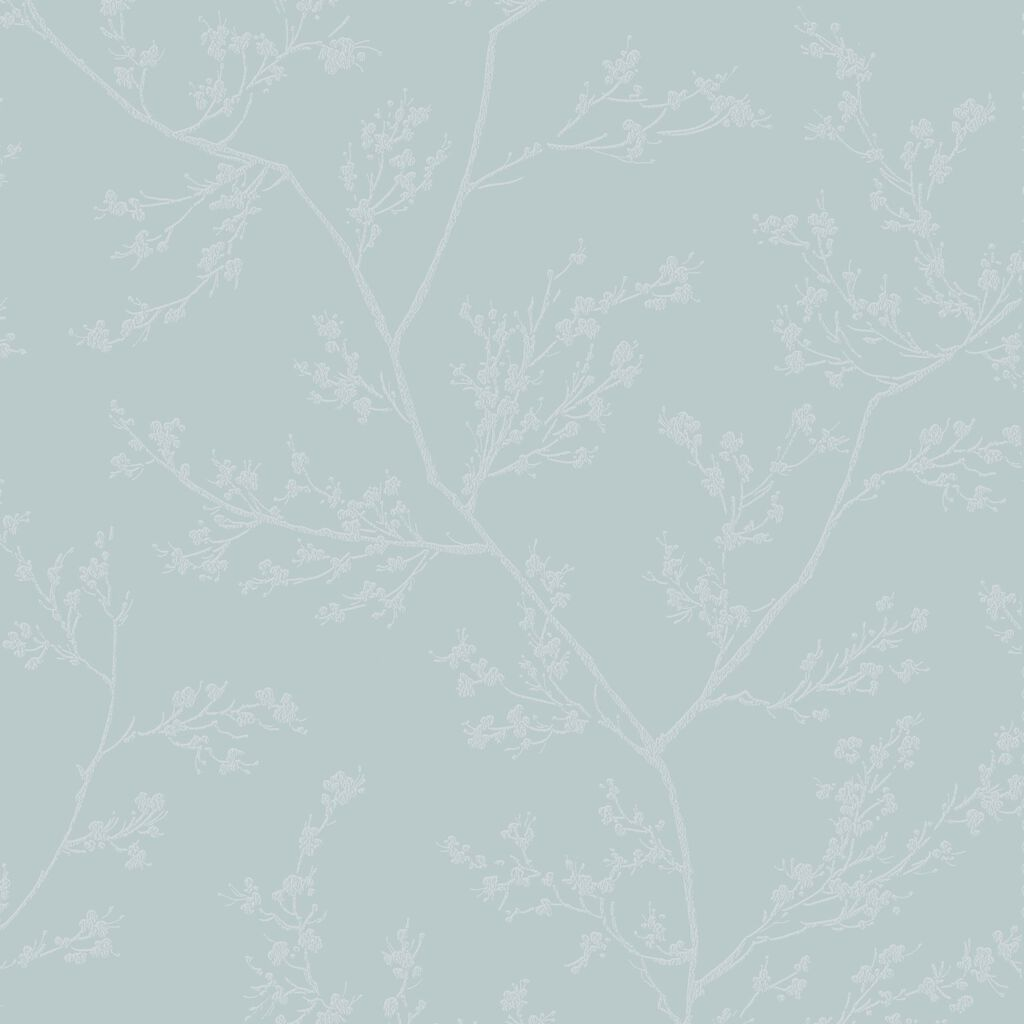 Springtime Blue and Grey Wallpaper, , large