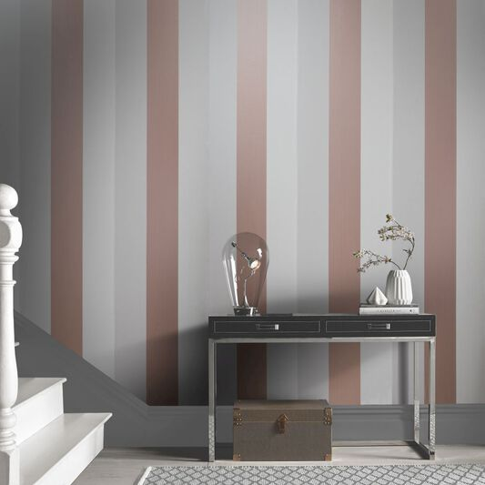 Figaro Rose Gold & Mink Wallpaper, , large