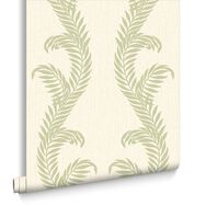 Venus Cream & Green Behang, , large