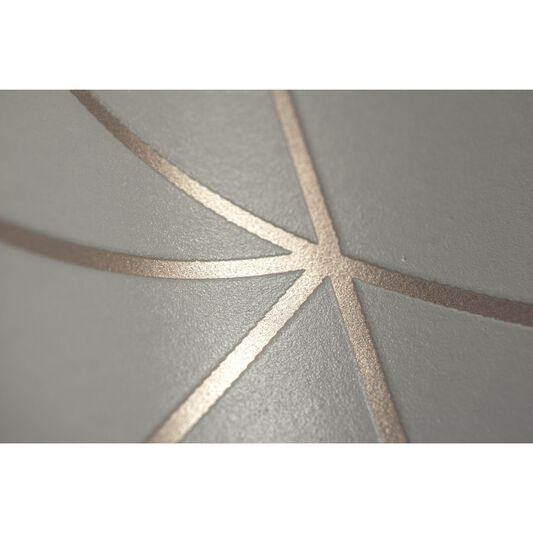 Geo Grey and Rose Gold Wallpaper, , large