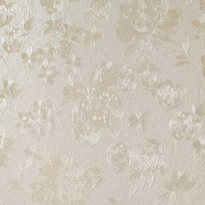 Floral Silk Cream Shimmer Wallpaper, , large