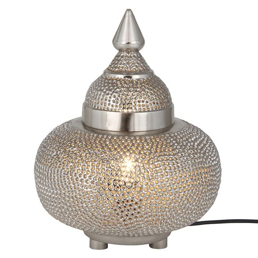 Silver moroccan patterned table lamp grahambrownuk silver moroccan patterned table lamp aloadofball Image collections
