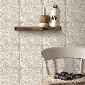 Ny Tile Natural Wallpaper, , large