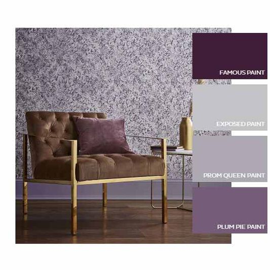 Botany Plum Wallpaper, , large