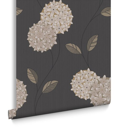 Pippa Charcoal Wallpaper, , large
