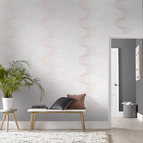 Revival gray & Pink Wallpaper, , large
