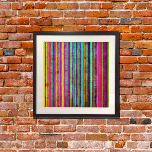 Neon Pixel Wall Art, , large