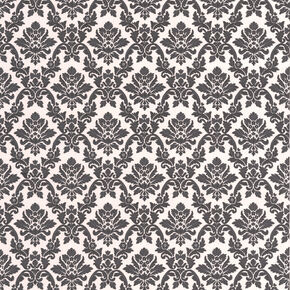 Damask Black and White Wallpaper, , large