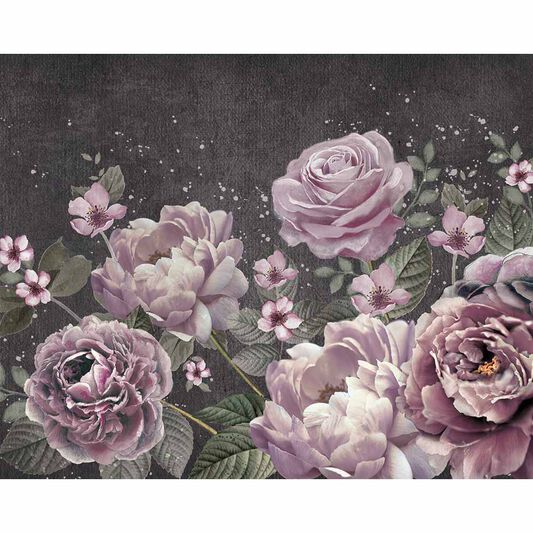Purple Bloom Wall Ready Made Mural, , large