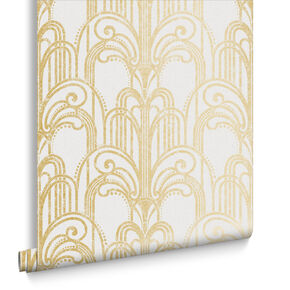 Art Deco Gold & Pearl Behang, , large