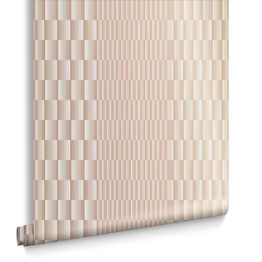 Symmetry Rose Gold Wallpaper, , large