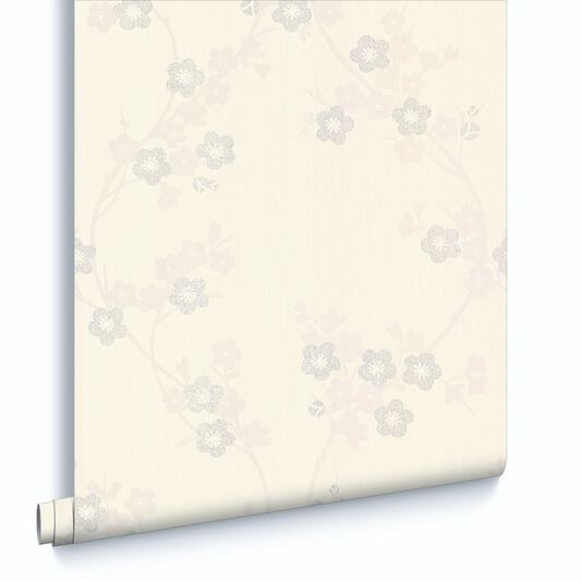 Cherry Blossom White Mica Wallpaper