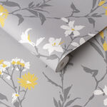 Aeris Gray & Yellow Wallpaper