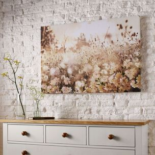 Layered Meadow Landscape Printed Canvas Wall Art, , large