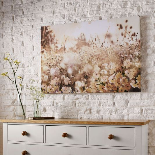Layered Meadow Landschap Printed Canvas, , large