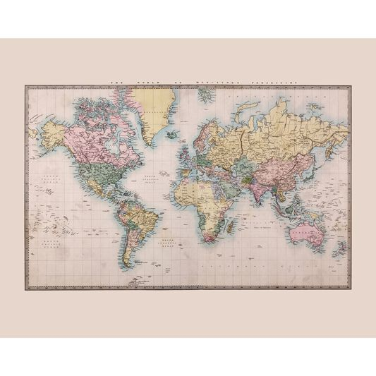 Historic World Wall Ready Made Mural, , large
