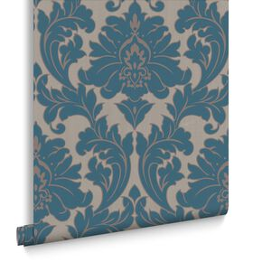 Removable wallpaper temporary wallpaper apartment renters majestic teal wallpaper large voltagebd Gallery