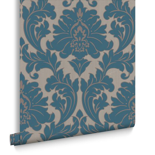 Majestic teal wallpaper large