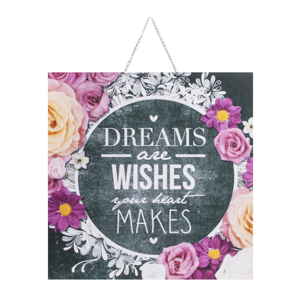 Chalkboard Dreams and Wishes Printed Canvas, , large