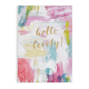 Hello Lovely Printed Canvas Wall Art, , large