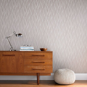 Sway Taupe Wallpaper, , large