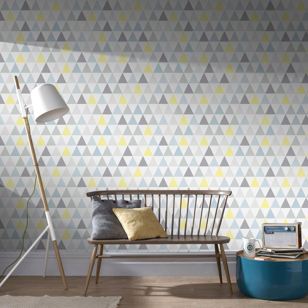 Tarek Jaune Bleu Wallpaper, , large