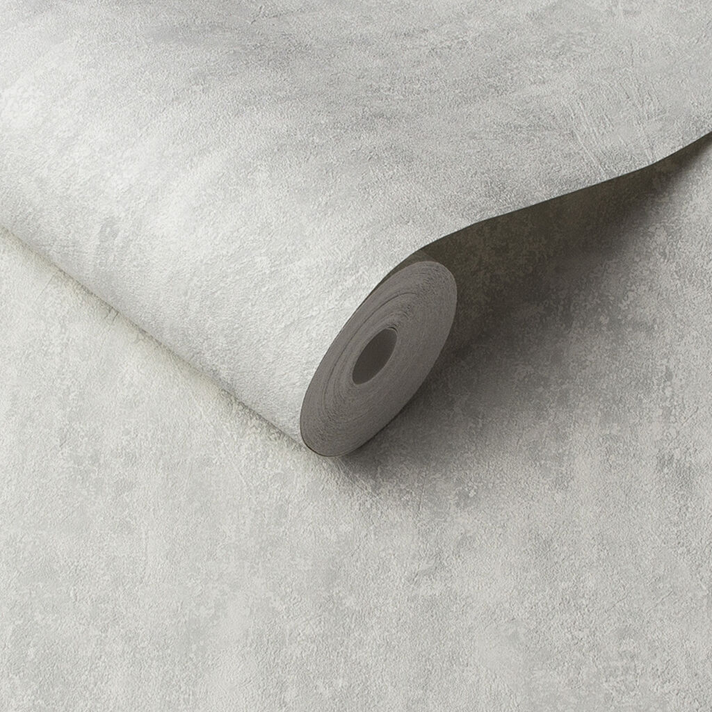 Orbit White Grey Wallpaper, , large