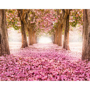 Floral Tunnel Wall Ready Made Mural, , large