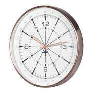 Brushed Copper Aviation Wall Clock, , large