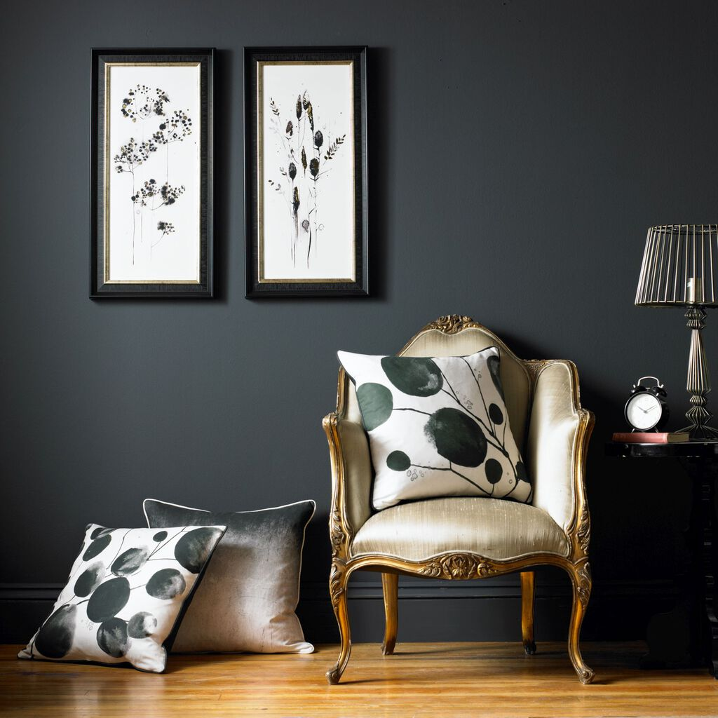 Bloom Honesty Abstract Cushion, , large