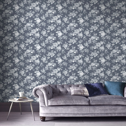 Muse Bleu Wallpaper, , large