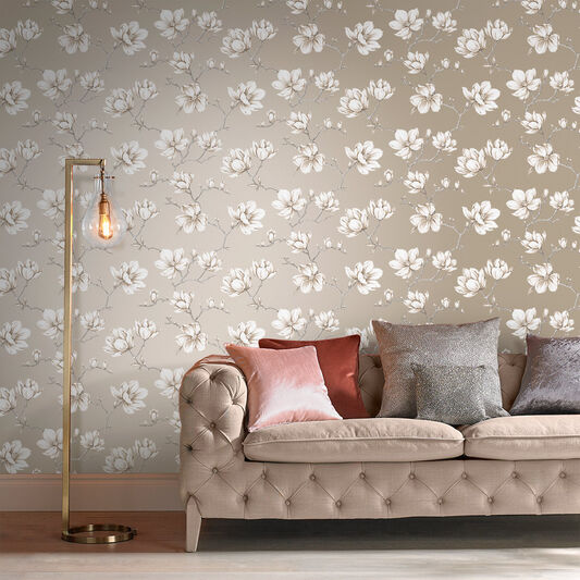Pierre White Gold Wallpaper, , large