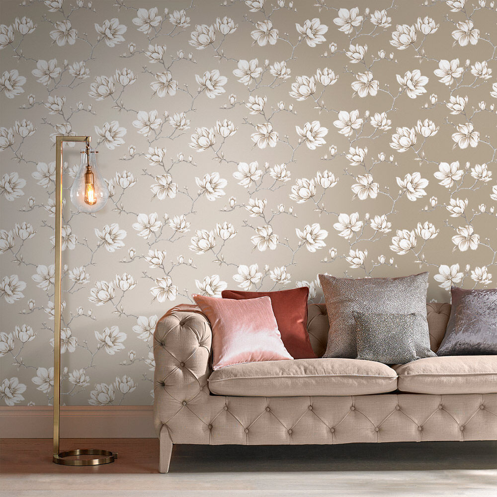 ... Large Pierre White Gold Wallpaper, ...
