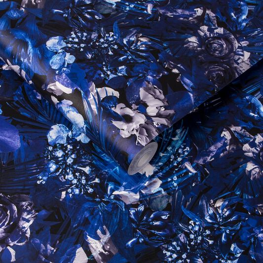Cecily Blue Couture Wallpaper, , large