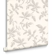 Sarra White & Silver Behang, , large