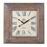 Organic Wooden Square Wall Clock, , large