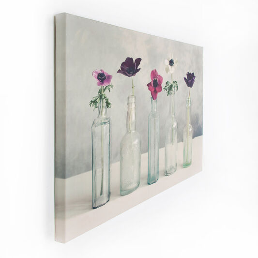Bedruckte Leinwand Floral Row, , large