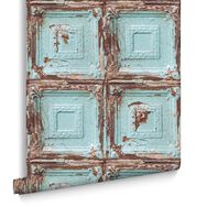 Mykonos Panel Blue Wallpaper, , large