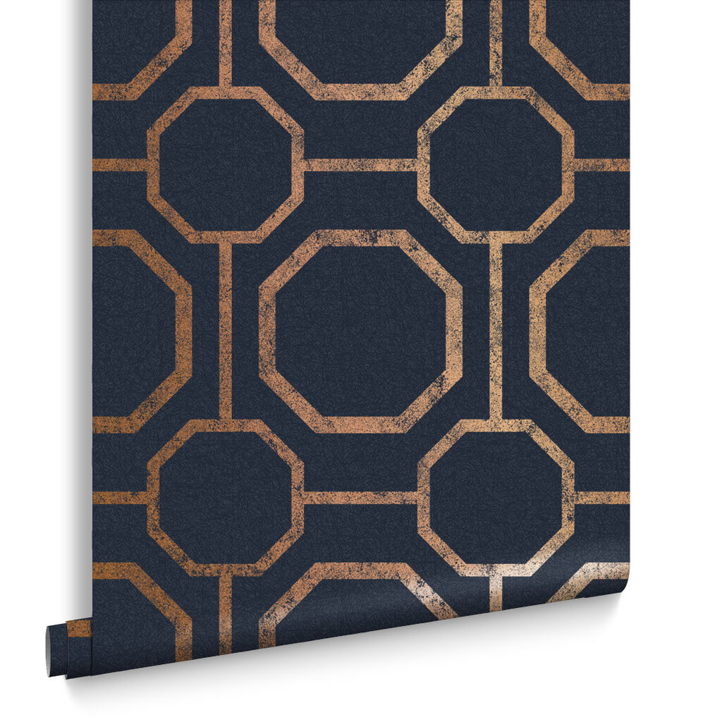 Sashiko Navy Behang, , large