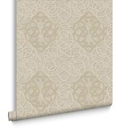 Ribbon Dance Gold Wallpaper, , large
