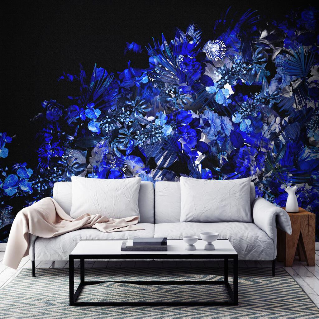 Cecily Blue Ready Made Mural, , large