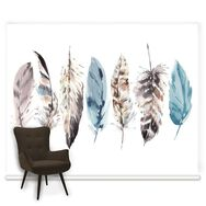 Fotobehang Couture Watercolour Feathers, , large