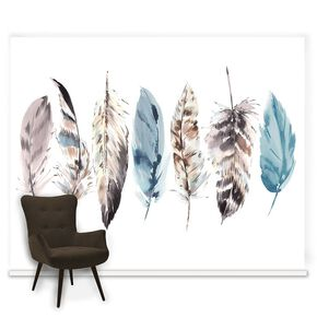 Couture Watercolour Feathers Ready Made Mural, , large