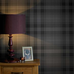 Audrey Charcoal Wallpaper, , large