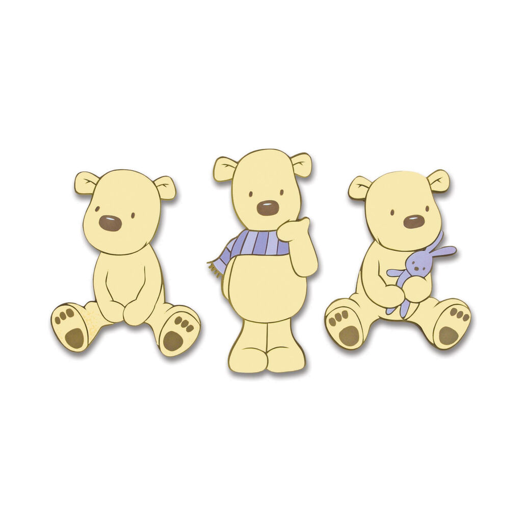 Bears Foam Wall Elements 3pcs, , large
