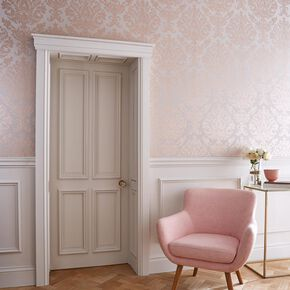 Antique Taupe & Rose Gold Wallpaper, , large